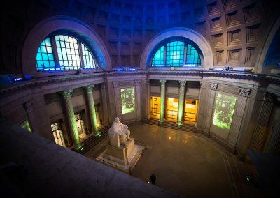 Franklin Institute Rotunda Projectors