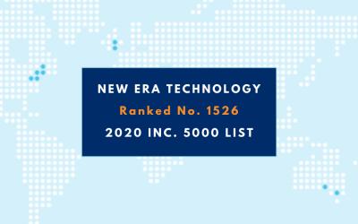 New Era Technology Ranks No. 1526 on the 2020 Inc. 5000 List