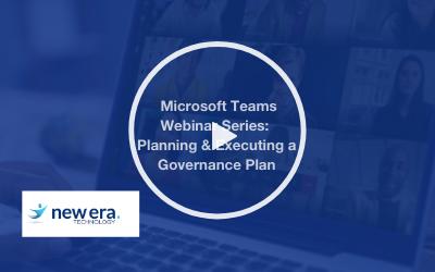 Webinar: Microsoft Education Webinar Series: Planning and Executing a Governance Plan