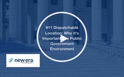 Webinar: 911 Dispatchable Location: Why it's Important in a Public Government Environment