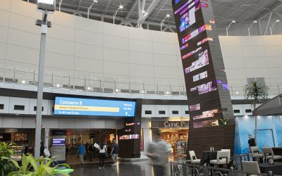 Integrated Wayfinding Towers at Leading Airport